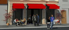 property pensions adelaide street cork image showing front enterance of cafe theatre